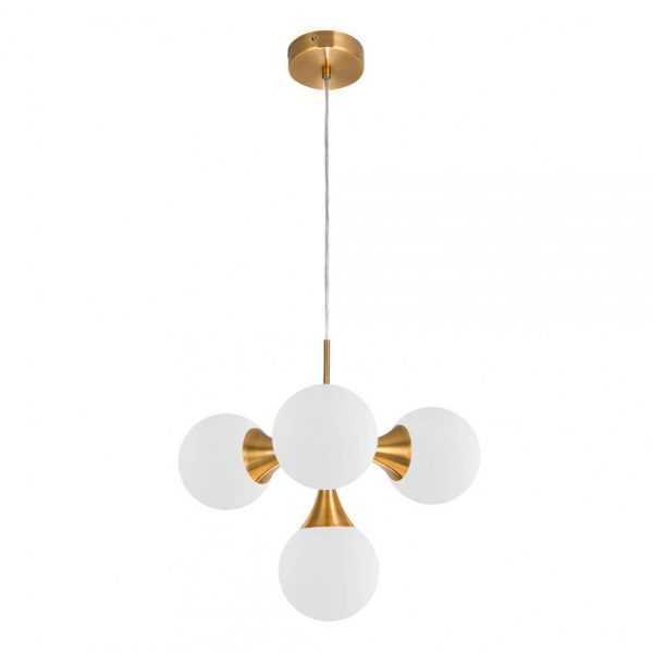 Lámpara de techo 4 luces oro cobrizo Frey