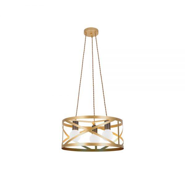 Lámpara de techo 3 luces oro mate circular Melli