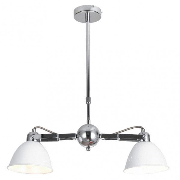 Lámpara de techo 2 luces cromo tulipa blanca Buri