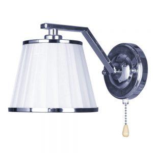 Lámpara de pared 1 pantalla cromo con interruptor Trebol