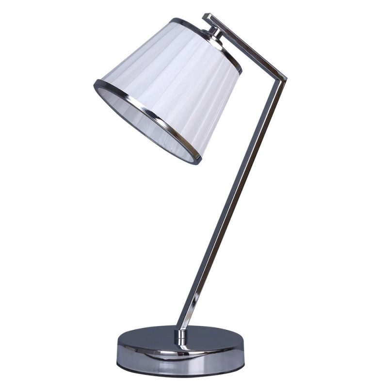 Lámpara de mesa 1 pantalla cromo Trebol