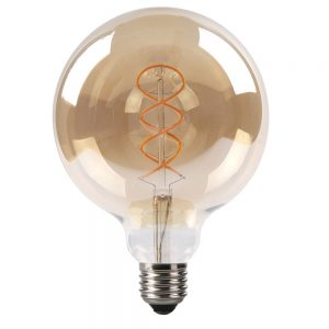 Bombilla decorativa vintage filamento led trenzado
