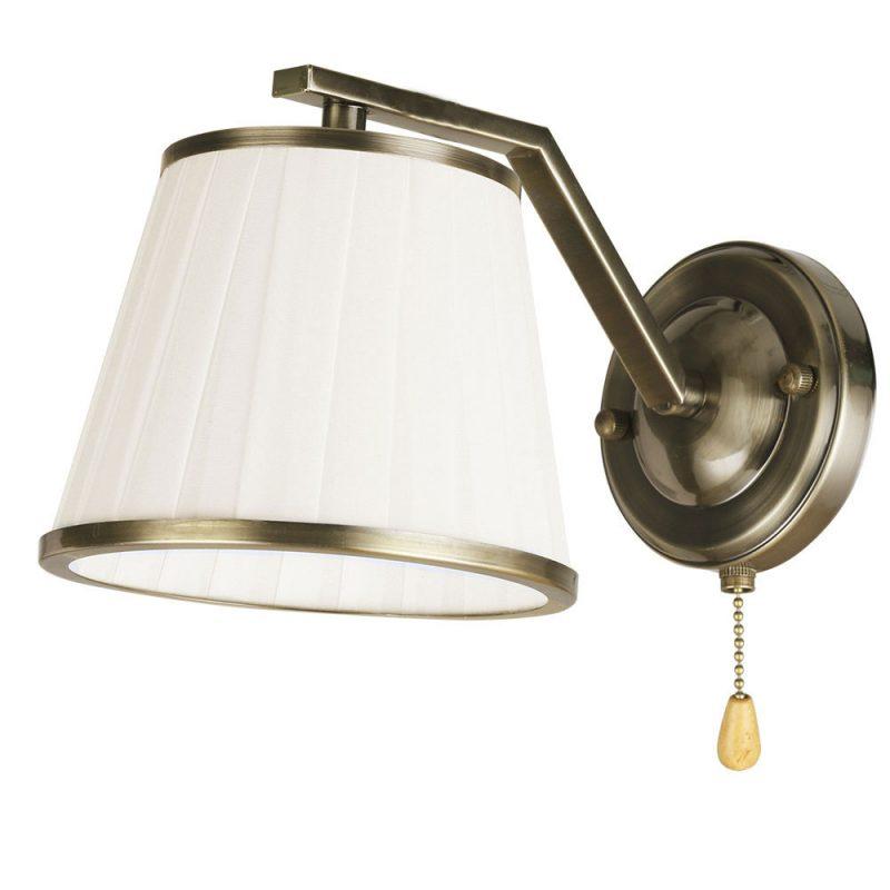 Lámpara de pared 1 pantalla con interruptor Trebol