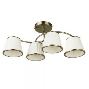 Lámpara de techo 4 pantallas alargada Lantanas