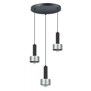 Lámpara colgante 3 luces metal aluminio Allende