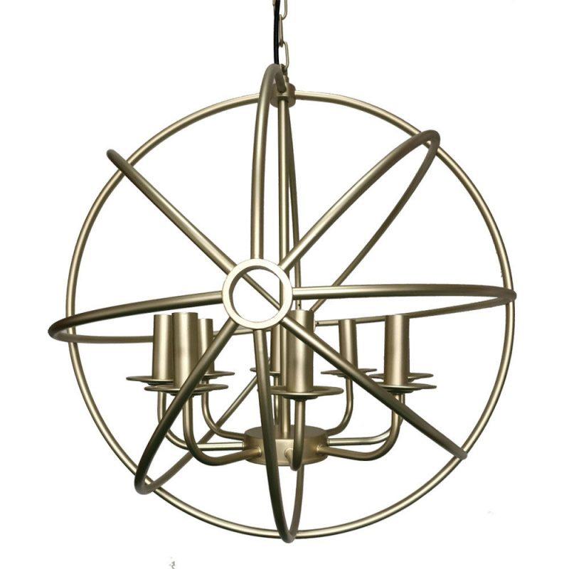 Lámpara colgante estructura esférica Arneses