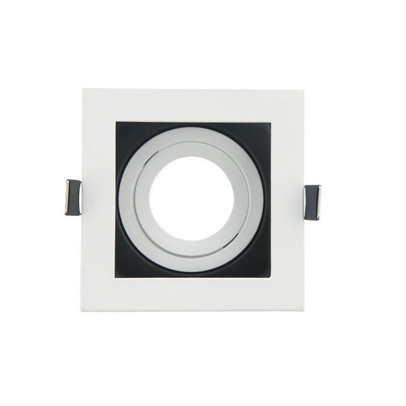 Empotrable cuadrado fondo negro basculante 100 mm