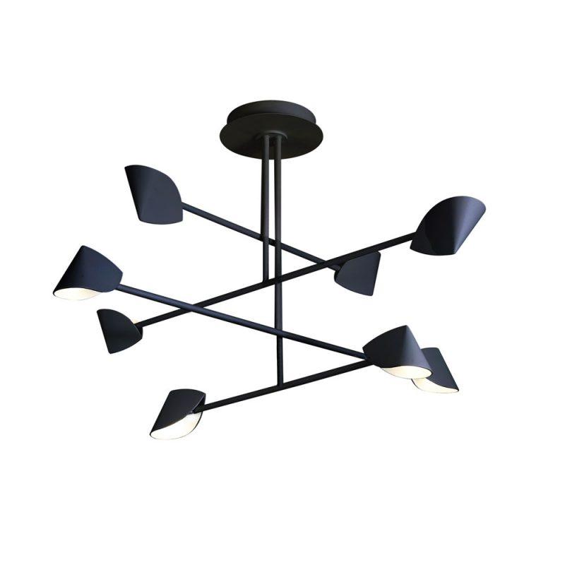 Lámpara techo plafón 8 luces Capuccina