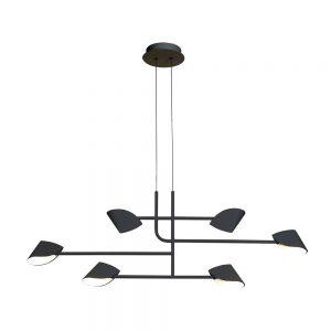 Lámpara techo colgante 6 luces Capuccina