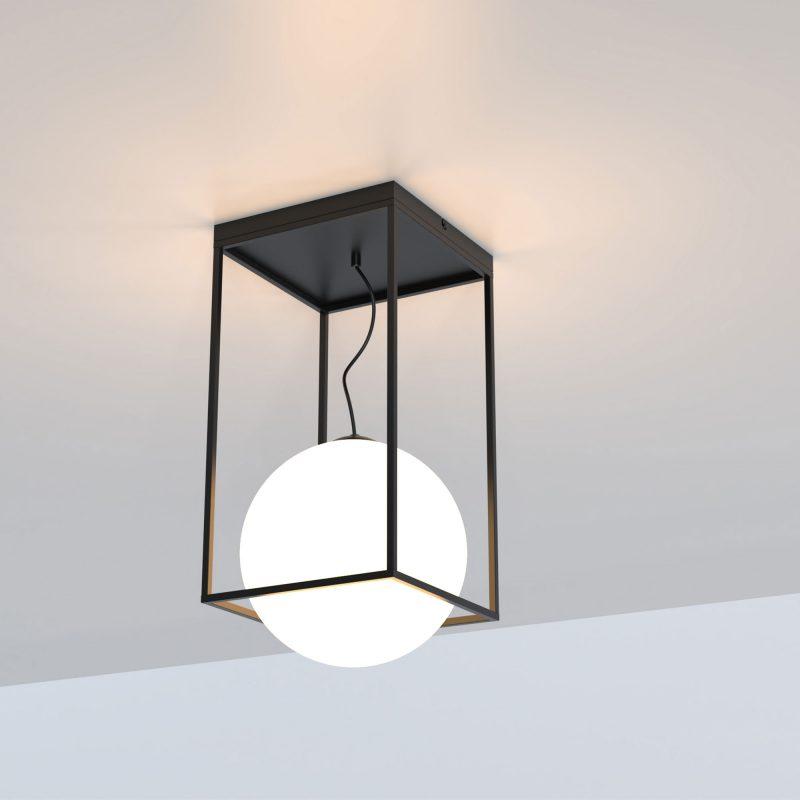 Plafón 1 luz cristal en suspensión opal 535 Desigual