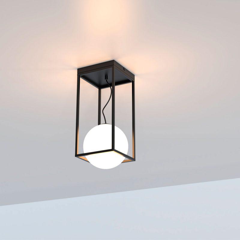 Plafón 1 luz cristal en suspensión opal 425 Desigual