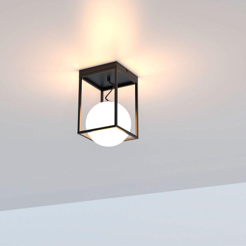 Plafón 1 luz cristal en suspensión opal 305 Desigual
