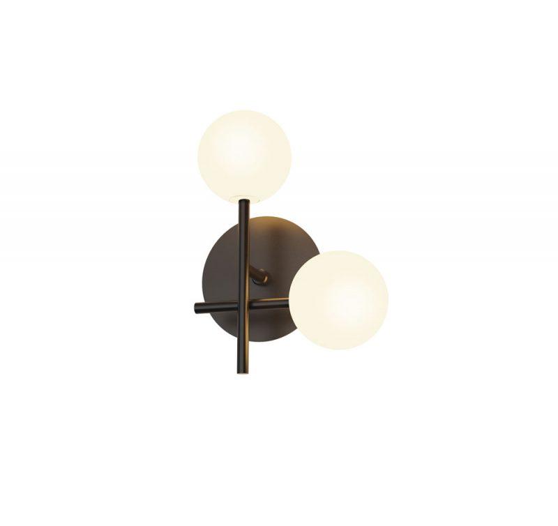 Lámpara pared 2 luces tulipas esféricas Cellar