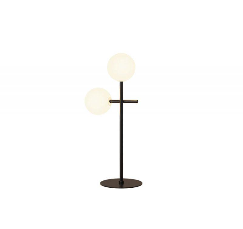 Lámpara mesa 2 luces tulipas esféricas Cellar